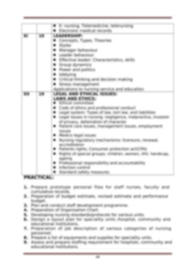 Operational plans Management plans Programme evaluation