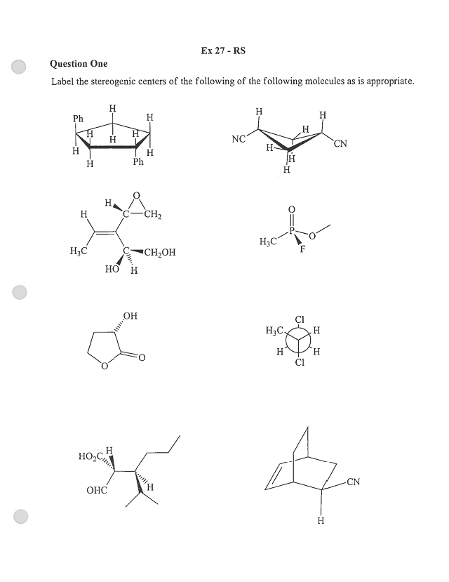 Packet of Stereochemistry Practice Problems and Answers
