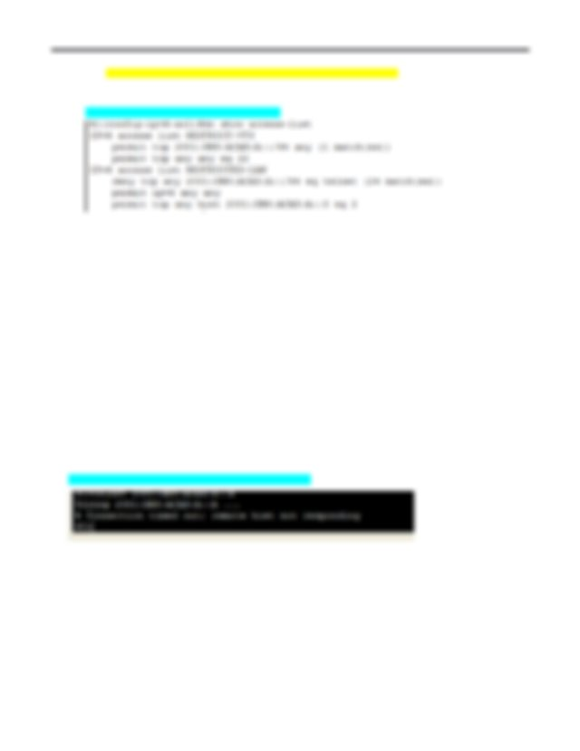 R1config ipv6 access list RESTRICTED LAN R1config ipv6 acl