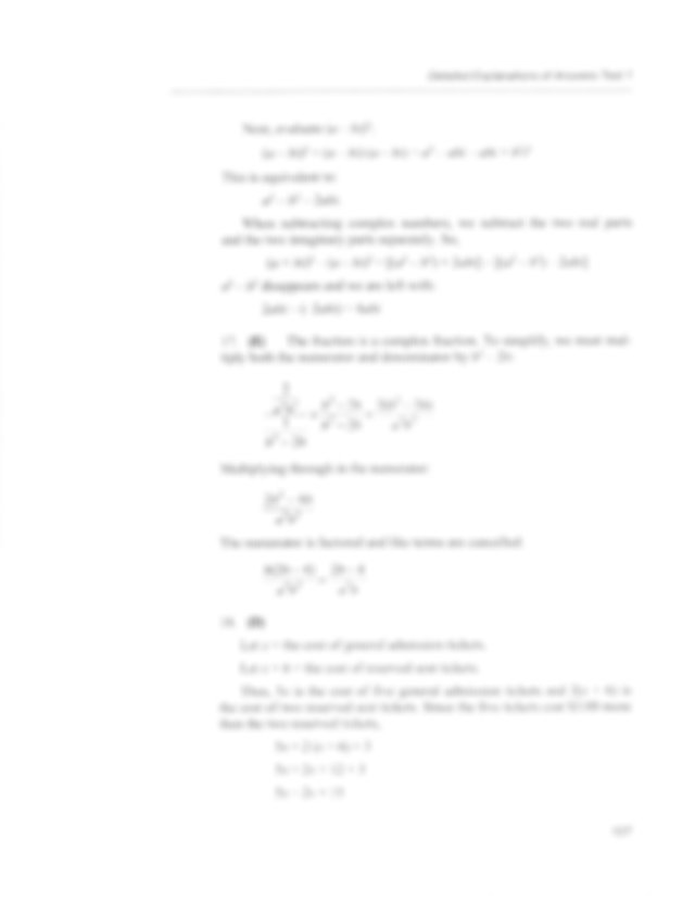 6 CLEP College Algebra Practice Test 1 Answers with