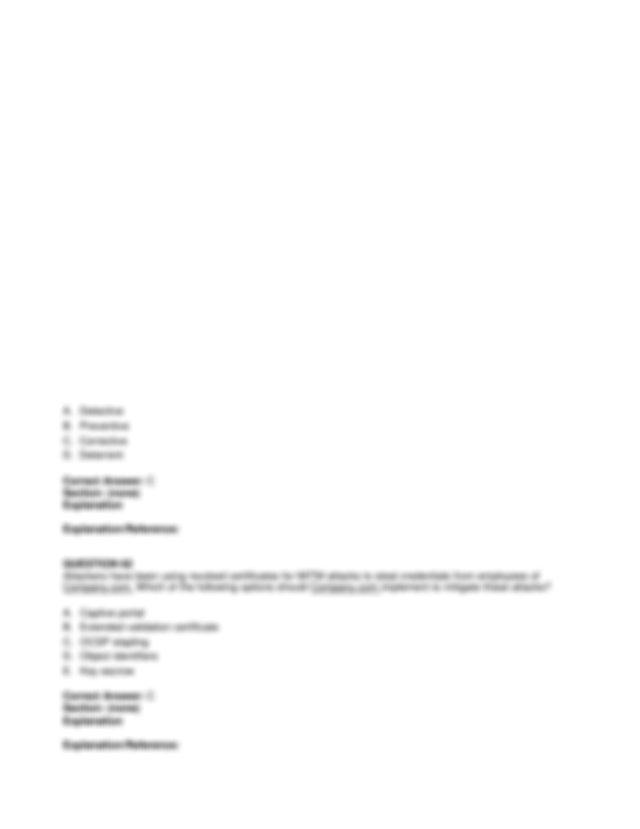 A WPS B 8021x C WPA2 PSK D TKIP Correct Answer A Section