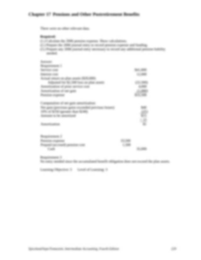 Intermediate Accounting Fourth Edition 225 Chapter 17
