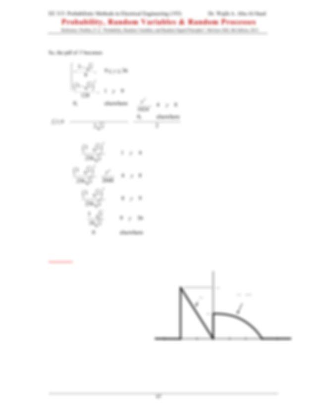 Example A random variable X has the pdf shown A random