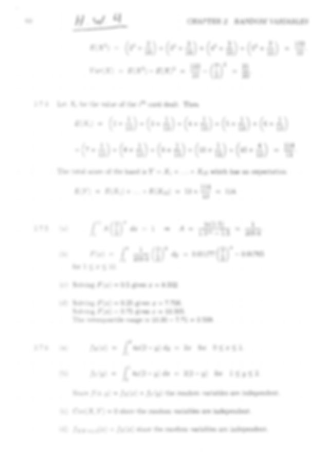 [Solutions manual] Probability and Statistics for