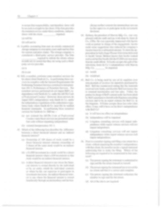 review questions of aicpa code of conduct q only