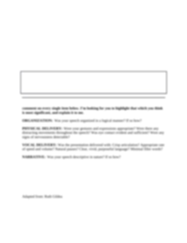 Comm 110 Self-Assess Instructions Impromptu Speech-1 (1).docx - Avila Comm 110 Self-Assessment of Recorded Speeches Purpose The purpose of the ...