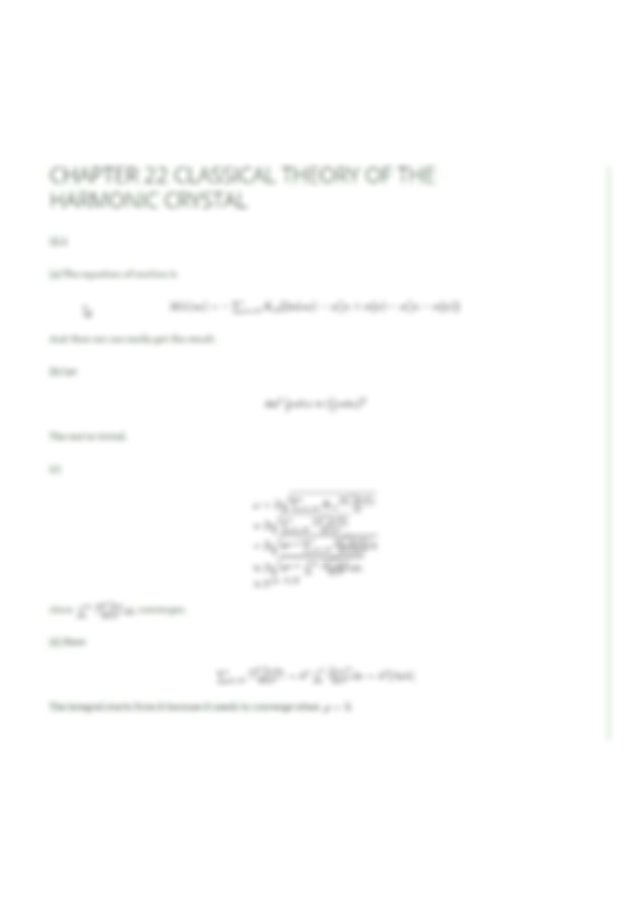Solution Manual Solid State Physics Neil W. Ashcroft and N