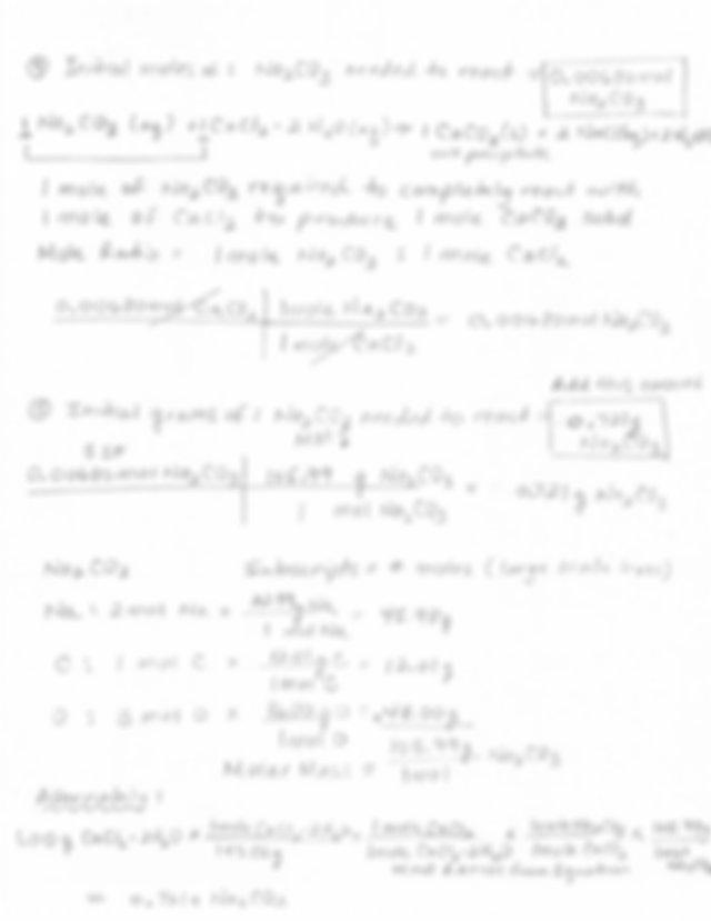 LEL 12 Stoichiometry of a Precipitation Reaction SAMPLE