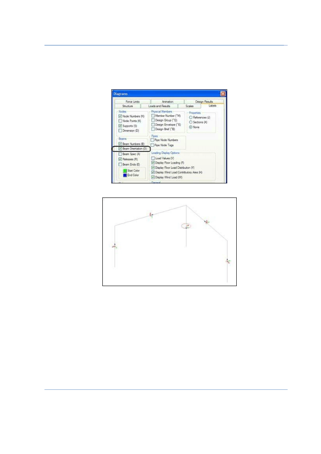 Open STAAD Editor Usually created a model using STAAD