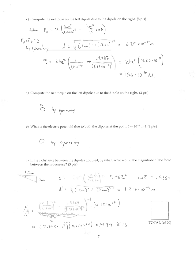 Midterm Exam 1 Solution on Electricity and Magnetism