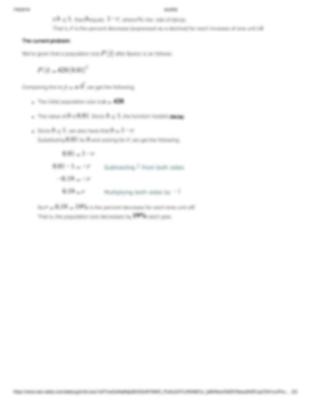 Finding the initial amount and rate of change given an