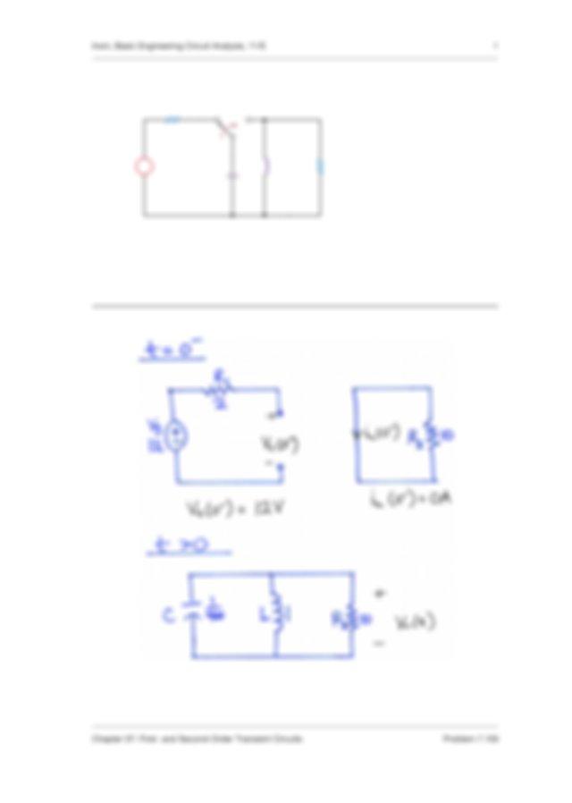 Find \u03c5 o t for t 0 in the circuit in Fig P7105 and