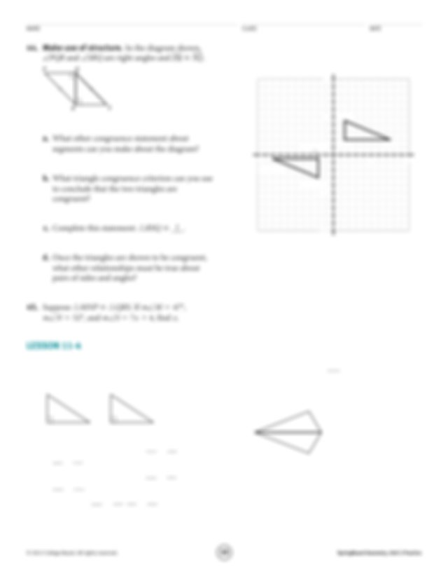 Make use of structure In triangles PQR and STV what
