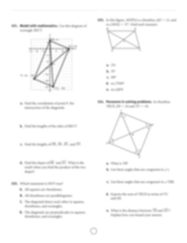 All rights reserved SpringBoard Geometry Unit 2 Practice A