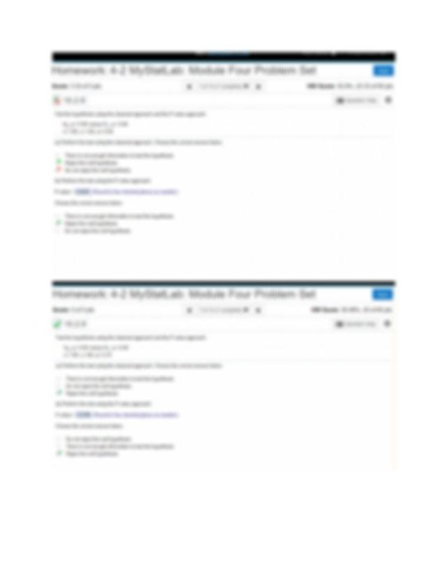 MAT240 HOMEWORK 4-2 MYSTATLAB MODULE FOUR PROBLEM SET.docx