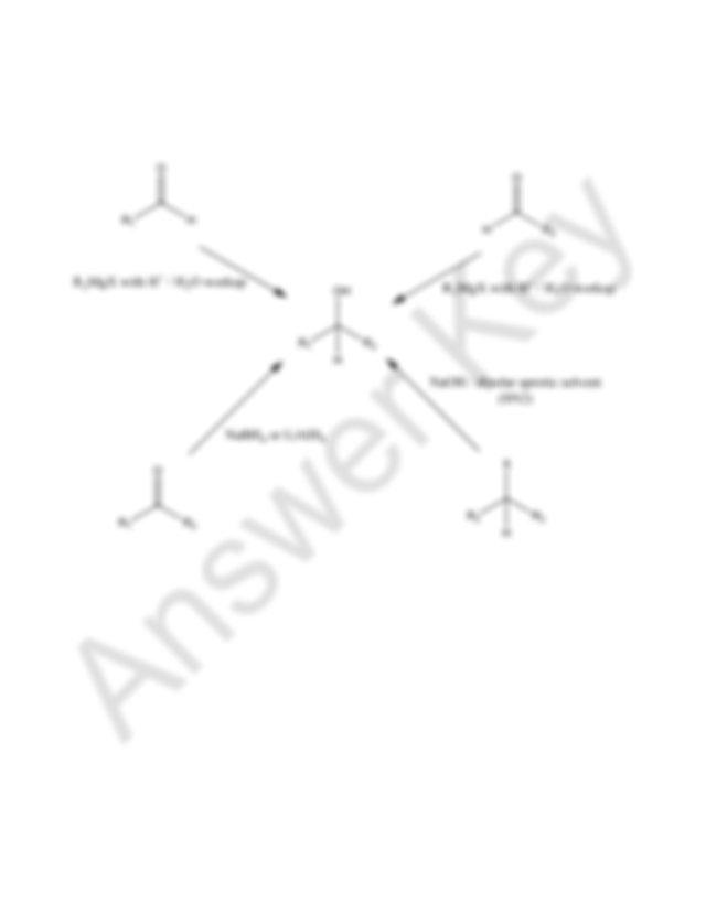 Chem 140A Winter 2014 Practice Final Exam Answer Key