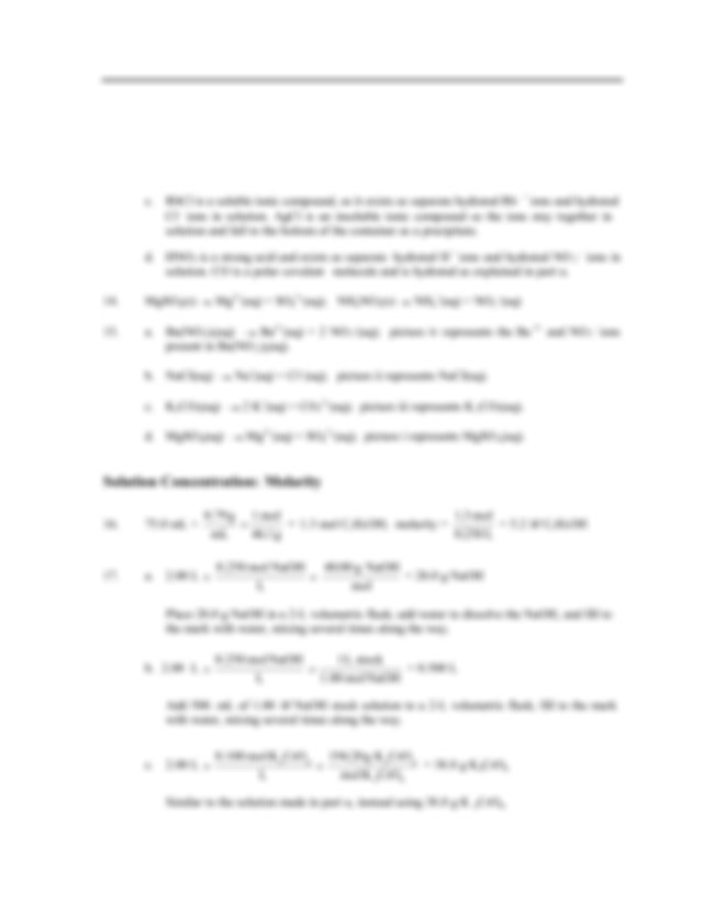 Zumdahl Chemistry 7th Edition Chapter 4 EOC Solutions