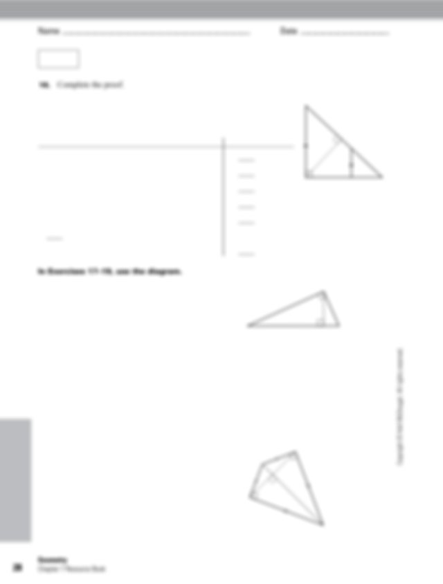 GIVEN n XYZ is a right triangle with m XYZ 5 90 8 Z W Y X
