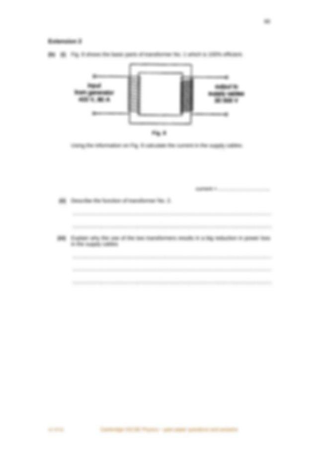 v1 4Y11 Cambridge IGCSE Physics past paper questions and