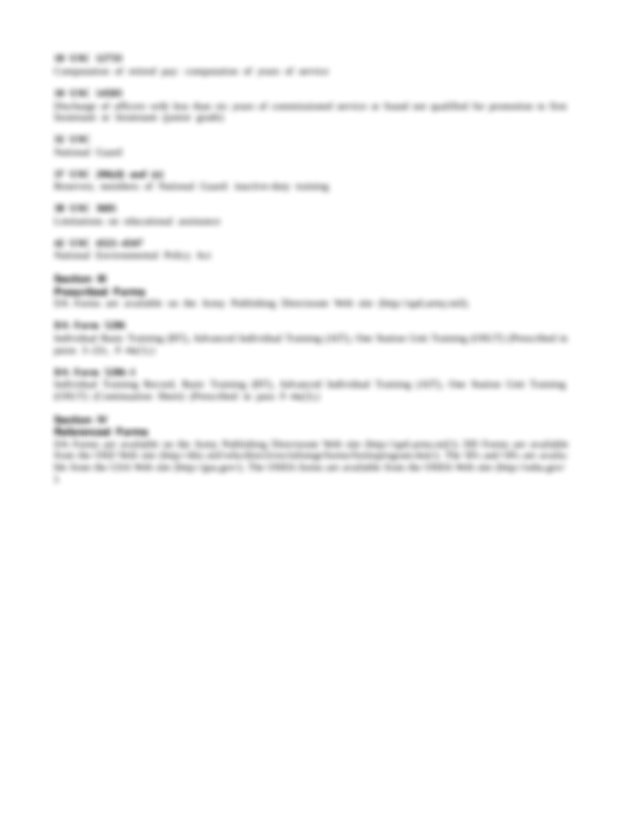 DA Form 21 Personnel Qualification Record DA Form 87