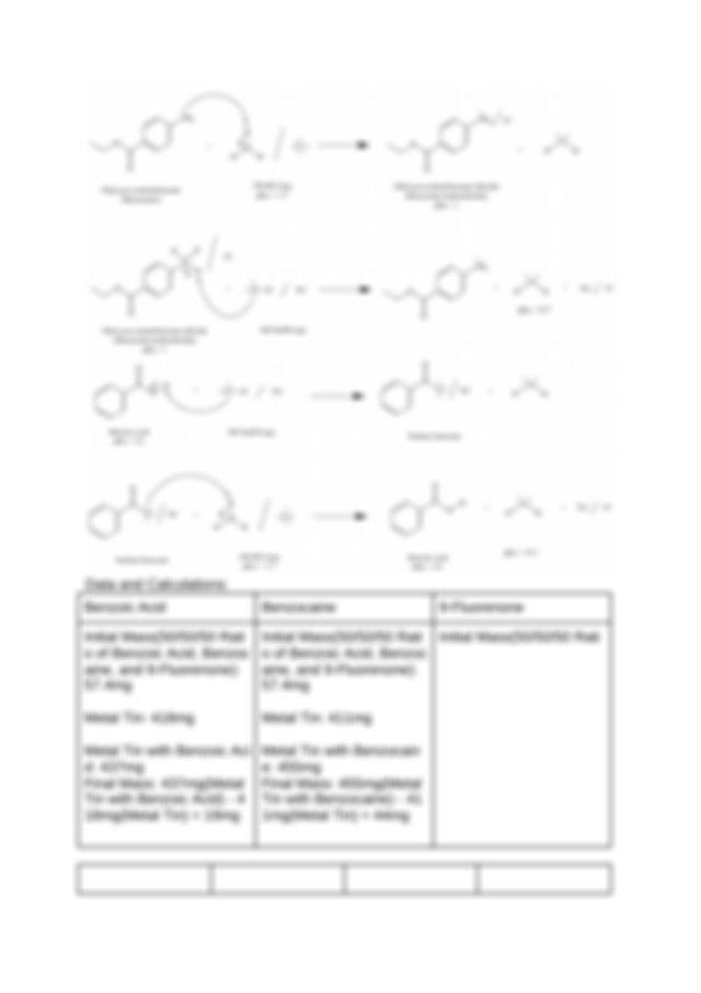 o of Benzoic Acid Benzoc aine and 9 Fluorenone 574mg
