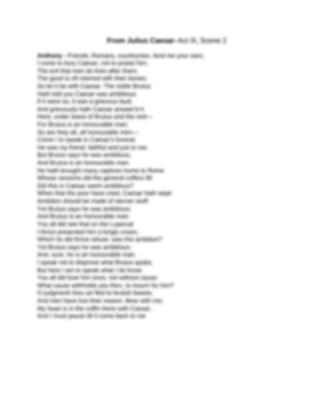 Monologue From Julius Caesar Assignment.docx