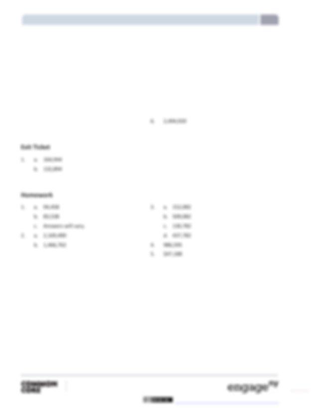 1 Lesson 5 Answer Key NYS COMMON CORE MATHEMATICS