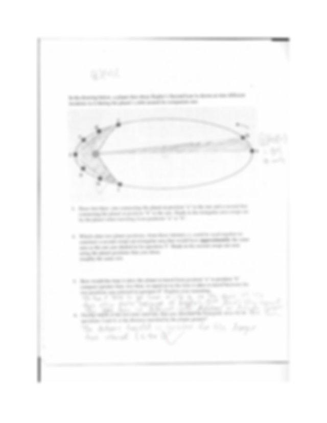 Homework 4 Retrrograde Motion, Kepler's 2nd and 3rd Laws