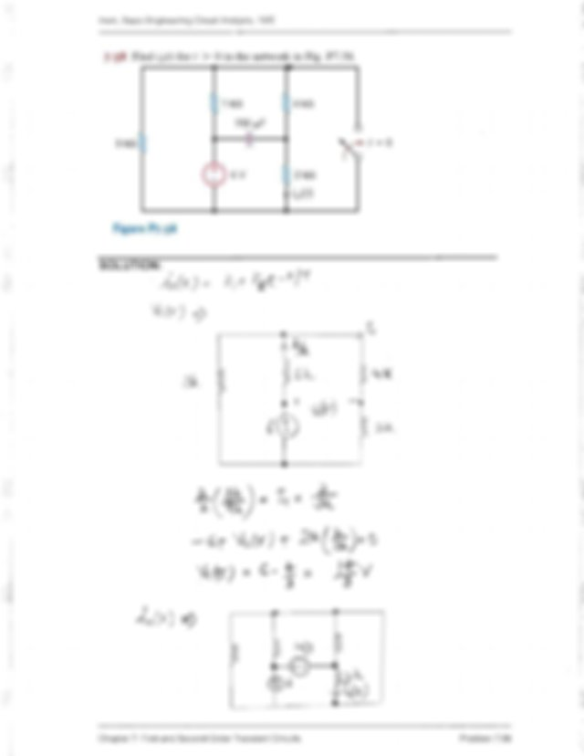 Solution Chapter 7 First and Second Order Transient
