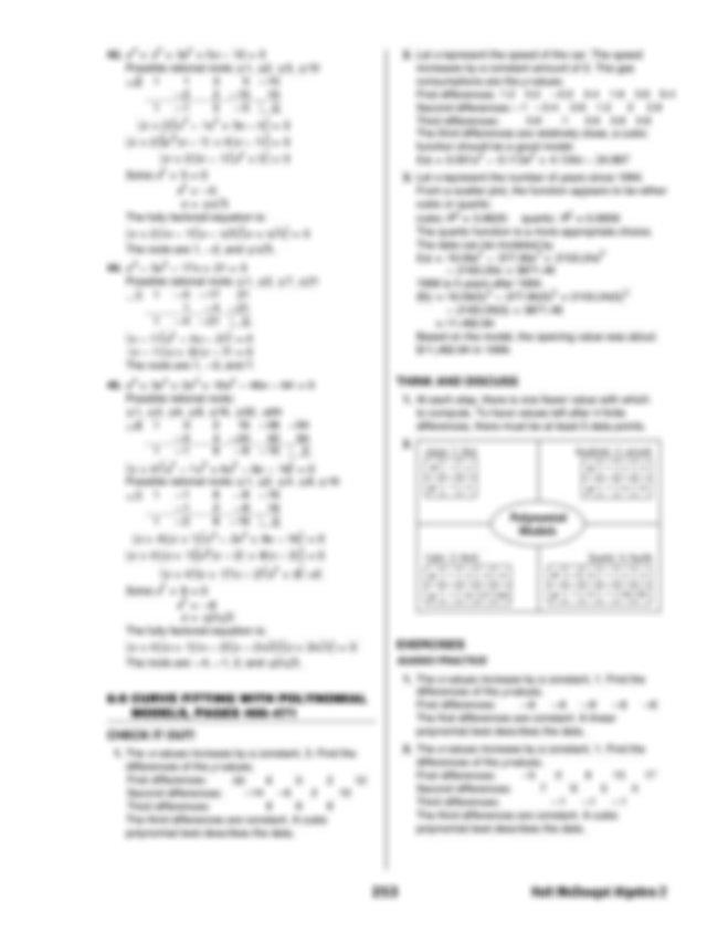 249 Holt McDougal Algebra 2 9 g x f 2 x 4 2 x 3 42 x 2 2 4