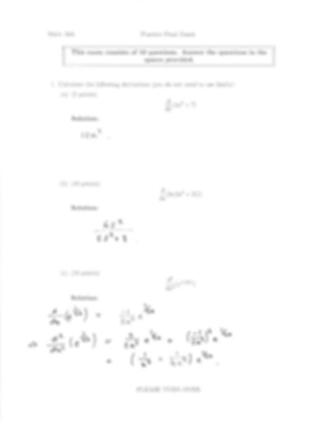 UC Berkeley_Math 16A_Final Exam Practice Solutions_Fall
