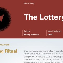The Lottery By Shirley Jackson Plot Diagram Process Recruiting Summary Course Hero