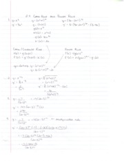 Chain Rule General Power Rule notes