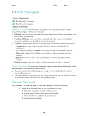 section 7 2 eukaryotic cell structure worksheet answers ...
