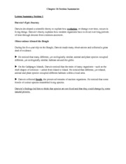 Evolution And Darwin Worksheet With Answers