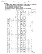 Example of Exam Front Sheet with Periodic Table HQ PDF