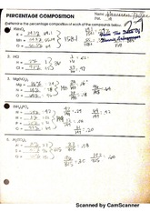 molar mass worksheet - Scanned by CamScanner Scanned by ...
