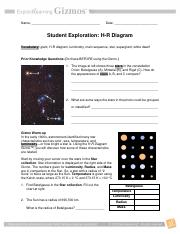 Module Fourteen HRDiagramSEdocdocx  Name Emilia Torello Date 11May17 Student Exploration H