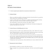 Chapter 18 The Genetics of Viruses and Bacteria - Chapter ...