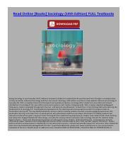 sociology 14th edition read