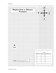 Physics Distance And Displacement Worksheet Answers