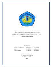 Usaha Budidaya Maggot Bsf Sebagai Alternatif Pakan Lele Docx Proposal Program Mahasiswa Wirausaha U201cbudidaya Maggot Bsf U201d Sebagai Alternatif Pakan Course Hero