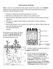 Soil Formation