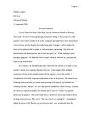Personal Statement Rough Draft Largent 1 Michael