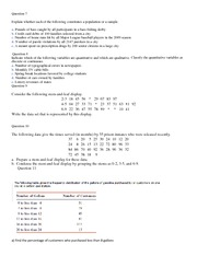 Population Vs Sample Worksheet