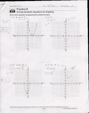 9.7 Worksheet solving quadratic formulas with square roots