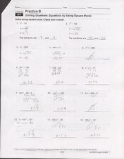 9.5 Worksheet solving quadratic equations by graphing