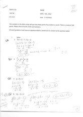 Math 116 Lecture Material- Equation of Lines