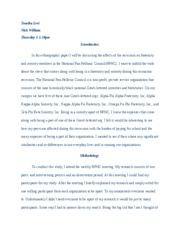 Anthro 2 Ethnography Paper Final Draft Tomika Levi Nick William