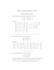 Systems Of Linear Equations Study Resources